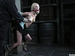 Slim Kelly Wells gets her tits and pussy tortured