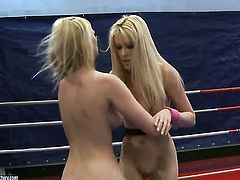 Blonde Antonya and Sophie Moone are lesbian love birds that do it with passion and desire