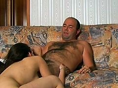 Her shaved and pink little vag enjoys fat dick stroking her like never before