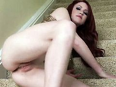 Elle Alexandra with small boobs and smooth pussy spends her sexual energy alone using sex toy