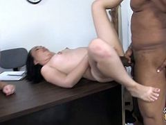 Cherish Red is a student with problems. Dee Siren is her mother and she must come in for a meeting with principal Diesel. They are both committed to solving this problem by sucking his big black cock and getting fucked by it.
