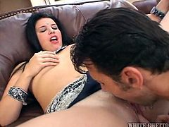 Meet Ishany, an Indian slut with a pretty smile and a pussy, that's just itching for some attention. Ishani receives some attention from this dude, as he rubs, licks and fingers her vagina. She then grabs his cock with greed and puts it in her mouth. The Indian slut sucks him lustfully, craving for his semen!