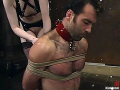 If we add to the extreme bondage, all the femdom and kinky action that goes on in this video, we are in for quite an emotional trip.