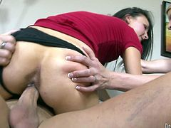 These two hot babes love group sex as they do each other and give a blowjob to a lucky young stud. They ride him cowgirl style and they get a facial for their efforts.