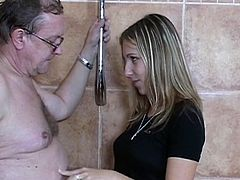 Nasty blonde beauty enjoys a good fuck along stud ready to fuck her hard