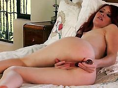 Elle Alexandra needs nothing but a toy in her beaver to be satisfied