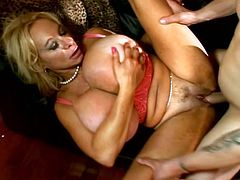Big-breasted blonde mom Echo Valley is getting naughty with some dude indoors. She gives him a nice blowjob and then they bang in missionary position.