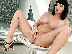 Aletta Ocean with juicy hooters gets frisky for cam