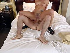 Slender tempting Katie St Eves with natural hooters and pretty face gets firm ass spanked to red color while tall James Deen is drilling her twat all over hotel room.