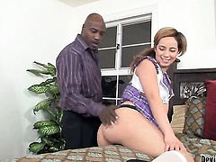 Rosalie Ruiz and hot guy have a lot of sexual energy to spend in interracial action