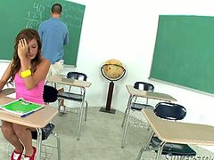 Super cute and sey eighteen year old student loved to suck her teacher's cock afterthe lessons.Watch her swallow that dick deep and jerk it off in Fame Digital sex clips.