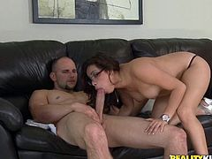 Get a load of this hardcore scene where this mami's nailed by a thick cock after she sucks on it as well as showing off her great body.