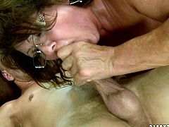 Damn you can tell this granny hasnt seen a cock for quite a while,the way she rides that cock is just crazy.Watch her work her pussy in 21 Sextury sex clips.