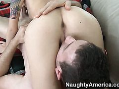 Emma Mae and Jordan Ash are two sex addicts that make each other happy in sex action