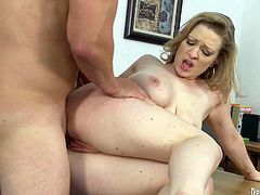 Aroused teacher fucks dirty student chick right on the table