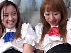 Eagerly aisan schoolgirls feel amazingly hot and needy to play nasty together