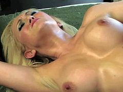 Cheating and bored blonde milf Alane Evans with big juicy hooters and cheep heavy make up seduces Mark Zane and gets shaved twat pounded balls deep on a lazy afternoon.