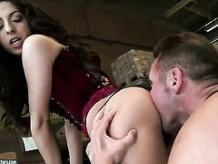 Brunette Addison Dark gives it to horny fuck buddy