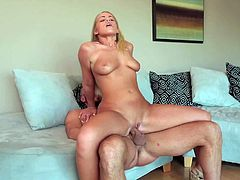 Britney Young is a nice blonde chick with big natural boobs and smooth pussy. She gives blowjob to her hot fuck buddy and then gets her vagina banged. Watch well endowed blondie Britney Young get fucked.
