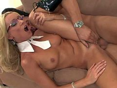 Diana Doll is a sexy European blonde milf who is dangerously sexy in glasses. This small titty lady with slim figure spreads her legs and gets her snatch fucked hard in this steamy scene.