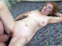 Husband drills his cougar wife in doggy style position. Later cum thirsty momma sucks his cock and dreams of sperm load deep in her throat.