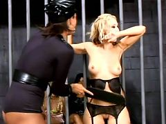 Lesbian BDSM in the detention facility