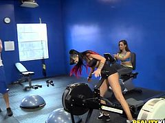 Hawt sport babes do exercises and flirt with fitness instructor. Don't skip this exciting Reality King sex tube video right here and right now.