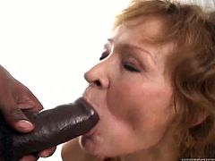 Mature woman with saggy tits got seduced by three horny black studs. They exploit her fuck holes giving her no mercy. Kinky Fame Digital porn vid.