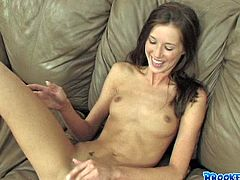 Brooke Skye has a very high-energy and erotic attitude about life. In this hot masturbation video she acts really naughty. She fingers her pussy passionately until she cums.