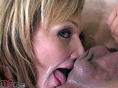 Hot, blonde and very kinky, Nikki drools for ass and that whip cream, makes it even better! She licks her man anus, puts in some cream and then, licks it some more. That's all the sweetness she wants! Stay with this filthy whore and see her, tossing more salad!