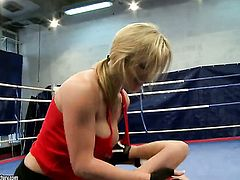 Blonde Tanya Tate cant get enough and touches Nikitas again and again