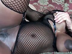 Hardcore anal fuck video featuring black torn slut