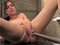 That is how babe loves feeling the taste of her own pussy. Machine fucked that tight twat so hard and so fast that she cummed in minutes.