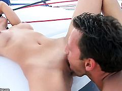 Brunette Cindy Hope gets the mouth fuck of her dreams with hard dicked bang buddy