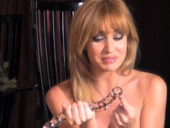 Angela Sommers screams during masturbation