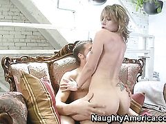 Velicity Von with huge melons and Chris Johnson have a lot of fun in this hardcore sex action