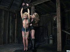 Two naughty babes think that fetish is for losers. They prefer something harder and more painful! Enjoy some wild and refined BDSM action!