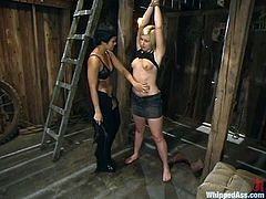 A sexual abuse in an act of sadism will be performed by two smoking hot lesbians. Once name is Dragon Lily and she will abuse a kinky European babe Jolene.