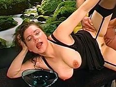 Nothing beats sucking one cock while having her tight ass hole slamed hard