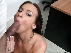 Carina Roman shows her cock sucking talents in blowjob action with hot fuck buddy