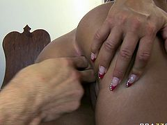 Cristina Bella is first-class whore. The girl is the complete package! Her well-shaped ass looks perfect from every angle and what a lovely face she has! She makes her lover worship her fine booty. Then she returns the favor and pleases him with a blowjob.
