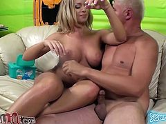 Superb Nicole Aniston pleases her clitoris with a vibrator while the guy fingers the pussy. Later on she sucks the guy off and gets fucked in a missionary position.