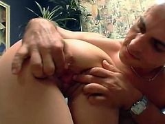 Brown-haired hussy Nautica Thorn shows her cock-sucking skills to some guy. Then she sits down on his prick and they have sex in cowgirl position on the floor.