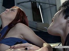 Cadence St John and Karlie Montana pussy encounter at work and these lesbian hotties are willing to do anything to satisfy their cravings even if no cocks available. Their boss is away and this warehouse is the only witness for their horny adventure.