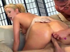Trinity James is this divine and stunning blond chick! She loves it double and she is going to keep these two cocks as hard as possible!
