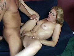 After some hot oral sex, this blonde was ready to take the D inside her craving cunt and moan like the whore she is.