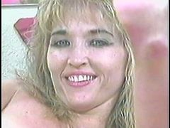 Take a look at this vintage video where a horny mature blonde masturbates with a big dildo as you take a look at her sexy body.