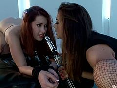 Watch all the kinky torture Chanel Preston gives to Melody Jordan in this femdom video before toy fucking her ass.