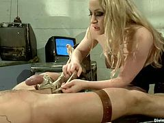 Aiden Starr is doing some painful things on him with no emotions