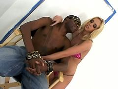 Blonde fucking slut gets her gash fucked by two hung black dudes in this awesome threesome right here. Check it out, dude!